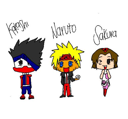 Naruto Colorido ~ Desenho de Naruto pintado e colorido por Usuário n u00e3o registrado o dia 11 de Fevereiro do 2011