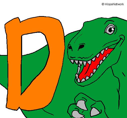 Desenho Dinossauro pintado por miguel ben 10