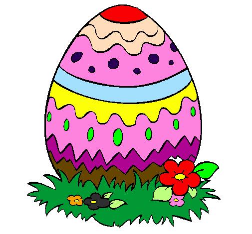 desenho de ovo de páscoa 2 pintado e colorido por usuário não