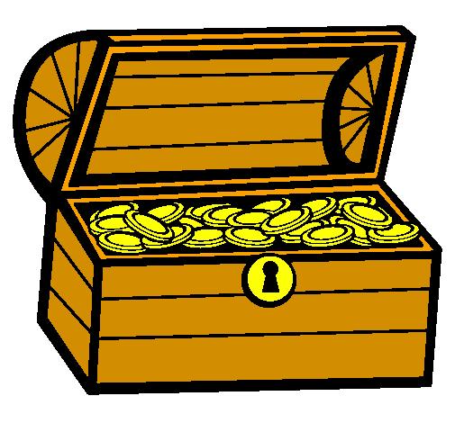 desenho de tesouro pintado e colorido por usuário não registrado o