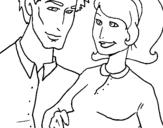 Desenho Pai e mãe pintado por minha mãe eo meu pai