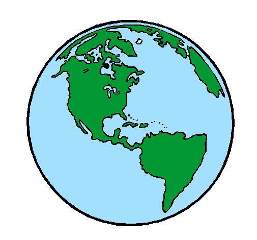 Desenho De Planeta Terra Pintado E Colorido Por Usu 225 Rio