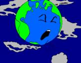 Desenho Terra doente pintado por cid