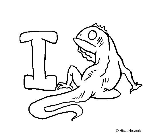 Desenho Iguana pintado por i