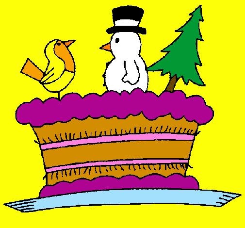 Pastel com bonecos