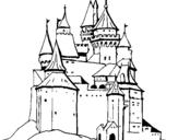 Desenho Castelo medieval pintado por Castelo