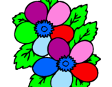 Desenho Flores pintado por mickaelle
