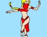 Desenho Princesa mora a dançar pintado por rafaela de sousa