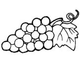 Desenho Uvas pintado por uva