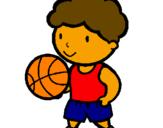 Desenho Jogador de basquete pintado por patrick