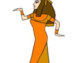 Desenho Bailarina egipcia  pintado por Valeria Lacerda