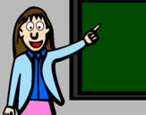 Desenho Professora pintado por Madalena
