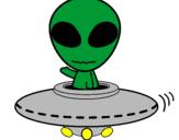 Desenho Alienígena pintado por ja
