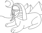Desenho Esfinge pintado por saimo
