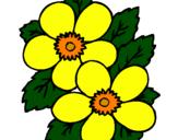 Desenho Flores pintado por flor 4