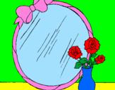 Desenho Espelho pintado por Bart