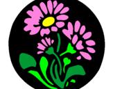 Desenho Gravado com flores pintado por tatiana costa