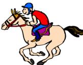 Desenho Corrida de cavalos pintado por Olacir