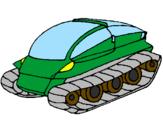 Desenho Nave tanque pintado por GABRIEL BOSNICH