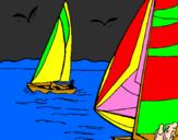 Desenho Velas em alta mar pintado por hiago