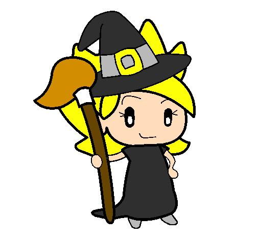 desenho de terebintina bruxa pintado e colorido por usuário não