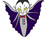 Desenho Vampiro aterrorizador pintado por pepê