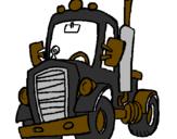 Desenho Tractor pintado por vasco