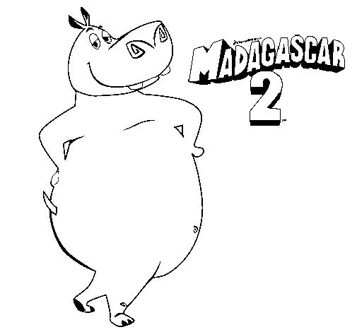 Desenho Madagascar 2 Gloria pintado por 2