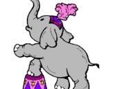 Desenho Elefante pintado por lina
