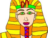 Desenho Tutankamon pintado por DU VOO-DU TATTOO - USA