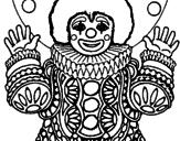 Desenho Palhaço disfarçado pintado por urso pooh