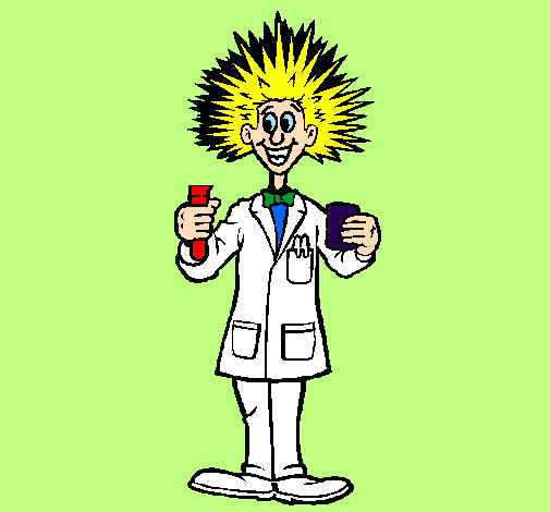 desenho de cientista louco pintado e colorido por usuário não
