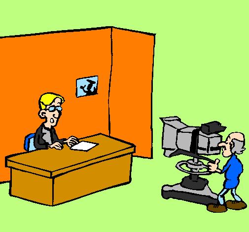 Desenho Apresentador de televisão pintado por djennefer