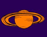Desenho Saturno pintado por lucas dalcin