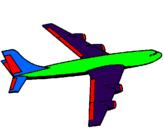 Desenho Avião pintado por igor rugilo
