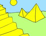 Desenho Pirâmides pintado por becas