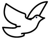 Desenho Pomba da paz pintado por Diana