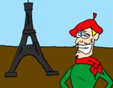 Desenho França pintado por carlas