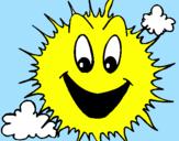 Desenho Sol brilhante pintado por alessandra gataH