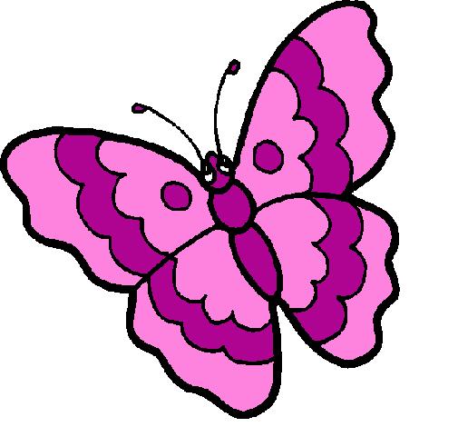 desenho de borboleta pintado e colorido por usuário não registrado o