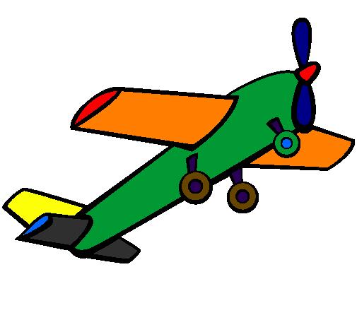 desenho de brinquedo avião pintado e colorido por usuário não