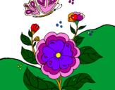 Desenho Flores II pintado por Eva Glória