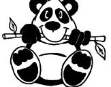 Desenho Urso panda pintado por rosyane