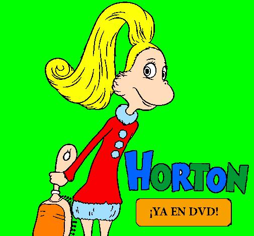 Desenho Horton - Sally O'Maley pintado por giovana