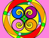 Desenho Mandala 5 pintado por DU VOO-DU TATTOO - USA