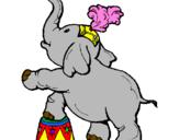 Desenho Elefante pintado por Amanda