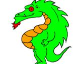 Desenho Dragão barrigudo pintado por Rafael