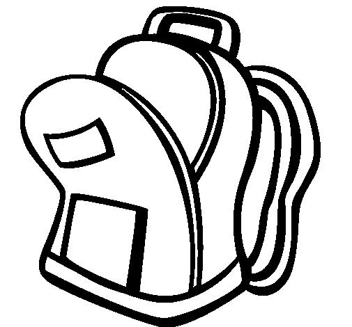 Desenho Carteira de colégio II pintado por mochila