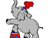 Desenho Elefante pintado por elefante
