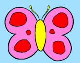 Desenho Borboleta pintado por ana clara